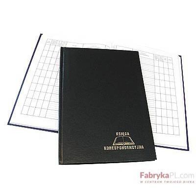 Książka korespondencyjna A-4 96 kartek - czarny Warta