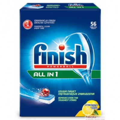Tabletki do zmywarki FINISH All in 1 56 lemon