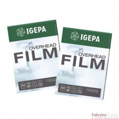 Folia IGEPA Overhead Film IJ 205 S - Przezroczysta Folia IGEPA do kolorowego druku atramentowego