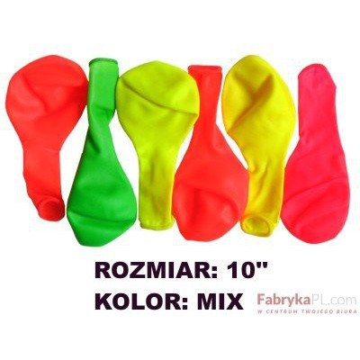 "Balon GRAND 10"" neon mix 100szt"