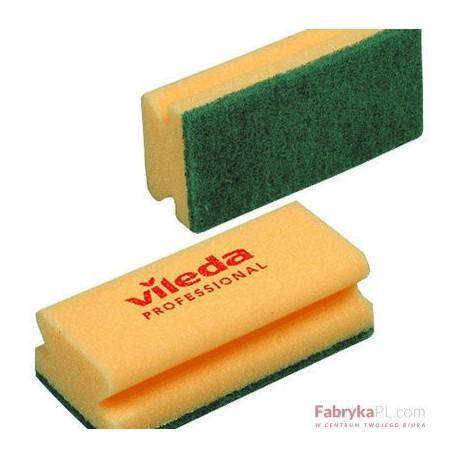 Gąbka do szorowania (z zielonym padem) – zółta Vileda