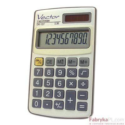 Kalkulator VECTOR DK-137 kieszonkowy 10p