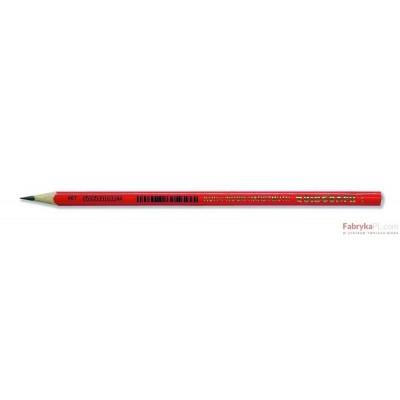 Ołówek grafitowy 1802/1 TRIOGRAPH czerwony KOH I NOOR