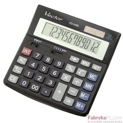 Kalkulator VECTOR CD2455 12p .