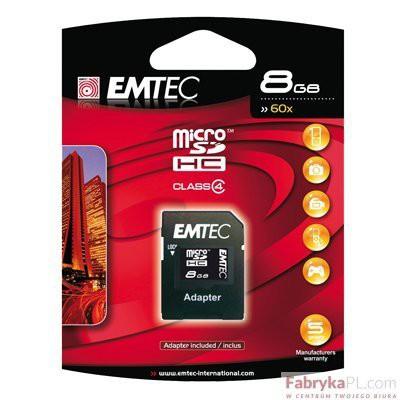 Karta pamięci EMTEC micro SDHC 8GBHC Class 4