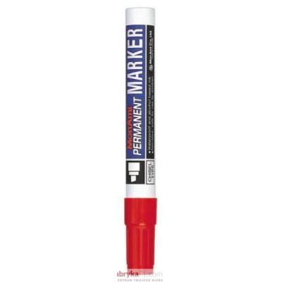 Marker MONAMI PERMANENT ścięta końcówka C czerwony (aluminiowa obudowa)