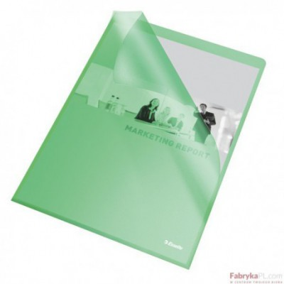 Ofertówki groszkowe A4/115 mic, ESSELTE, zielone (25)