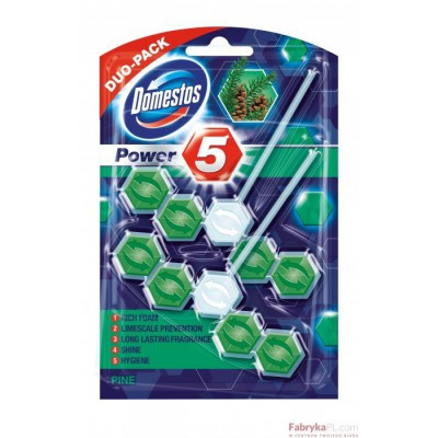Zawieszka do toalety DOMESTOS POWER5 DUO PINE 7x2x55g