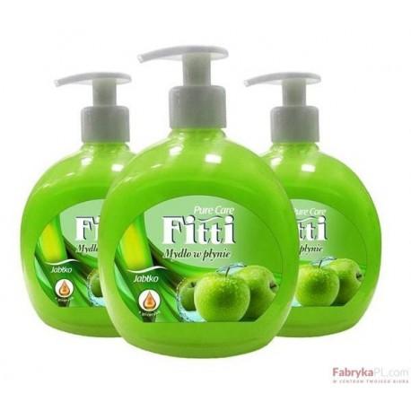 Mydło w płynie 500ml zielone jabłko FITTI