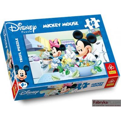 Puzzle Myszka Miki i Myszka Mini w kuchni 60 elementów TREFL 17145