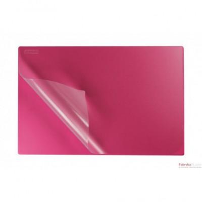 Podkład na biurko z folią 38x58 pink BIURFOL