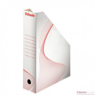 Pojemnik Kartonowy na czasopisma, Biały Esselte 80mm