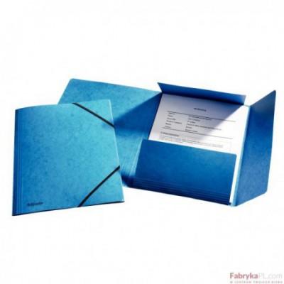 Teczka kartonowa z gumkami Esselte, niebieski