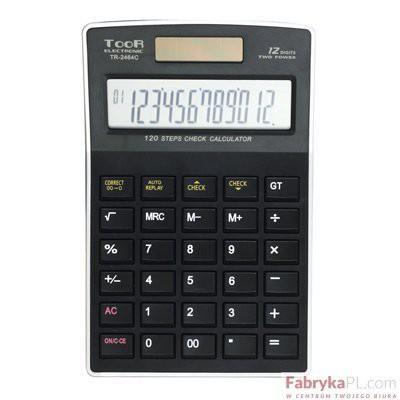 Kalkulator TOOR TR2464C 12 pozycyjny funkcja sprawdzania