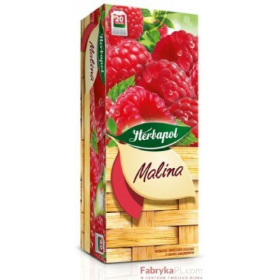 Herbata HERBAPOL HERBACIANY OGRÓD MALINA FIX 20t