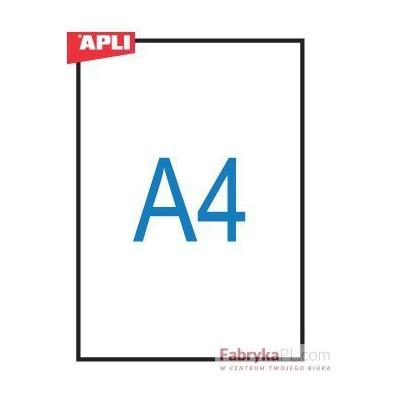 Folia A4 do rzutników APLI 210x297mm drukarki laserowe 20szt (na blistrze)