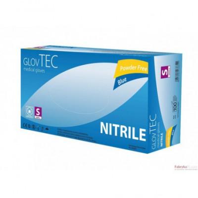 Rękawice diagnostyczne Nitrile niebieskie 100szt. , rozmiar S