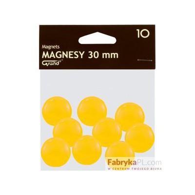 Magnesy średnica 30 mm żółty 10 szt. Grand