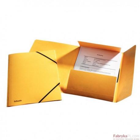 Teczka kartonowa z gumkami Esselte, żółty
