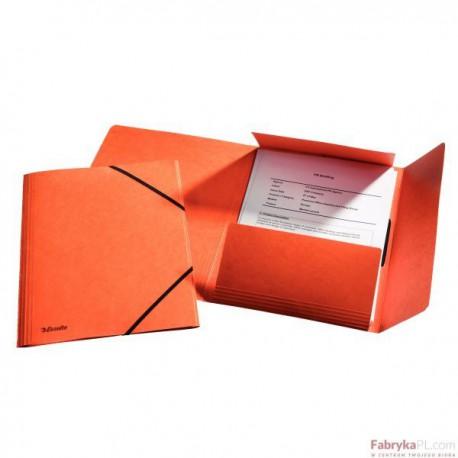 Teczka kartonowa z gumkami Esselte, pomarańczowy