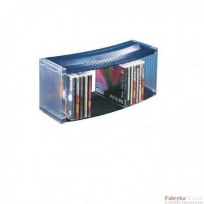 Stojak na 27 CD/DVD ESSELTE DATALINE (370 x 160 x 120), przezr./niebieski