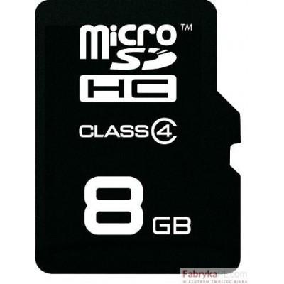 Karta pamięci EMTEC MicroSDHC z adapterem SD 8GB Silver Class 4