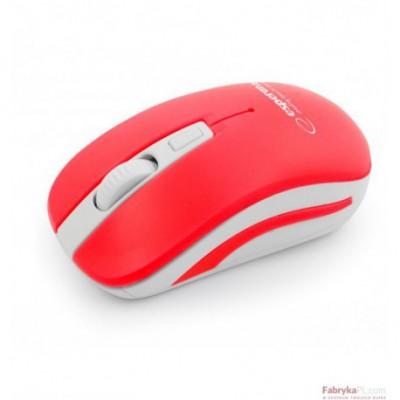 Mysz bezprzewodowa 24GHz URANUS czerwonobiała ESPERANZA