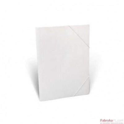 Teczka biurowa z gumką narożną, biała A4 - 350g/m2 Unipap