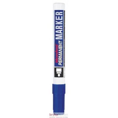 Marker MONAMI PERMANENT okrągła końcówka B niebieski (aluminiowa obudowa)