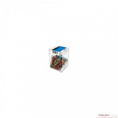Spinacz E&D PLASTIC kolorowy gładki 50mm 18szt