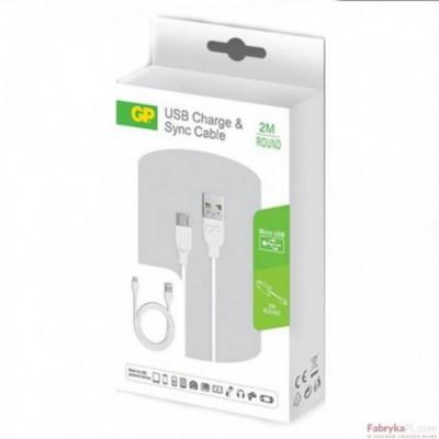 Przewód USB / microUSB, okrągły, 2m GPACECB22000 GP Batteries