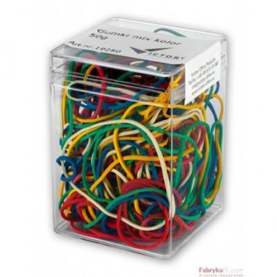Gumki recepturki E&D PLASTIC mix kolor 50g plastikowe pudełko
